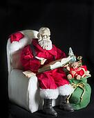 Santa Figurine, Sitting and Writing