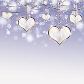 Valentine Golden Hearts