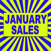 January sales background