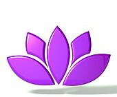 Purple lotus flower 3D image