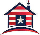 Patriotic house logo