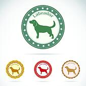 Set of vector labrador