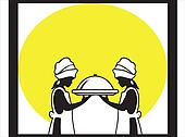 Two chefs silhouettes