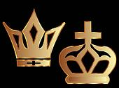 Crowns in gold color