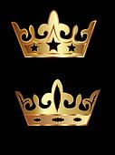 Two golden crowns