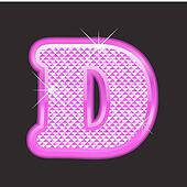 D letter pink bling girly