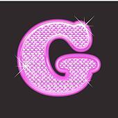 G letter pink bling girly