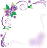 Wedding card with lavander flowers
