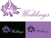 Wedding card invitation logo