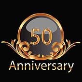 Gold 50th anniversary