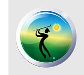 Golfer men icon