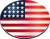 oval flag usa pin