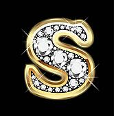 S gold and diamond bling