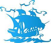 Sail ship or pirate ship