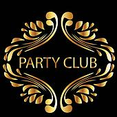 Vintage gold style party club
