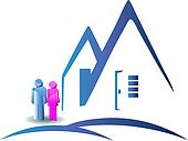 Couple with a new house logo