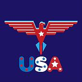 Eagle with usa word