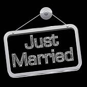 Just married sign bling bling