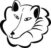 Wolf or snow dog logo