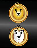 Lions faces logo