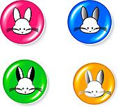 Rabbit icon set