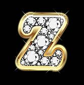 Z gold and diamond bling