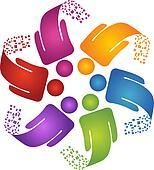 Teamwork creative design logo