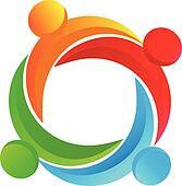 Teamwork diverse logo