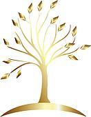 Gold tree logo