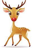 Red nose deer