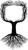 Tree silhouette with space