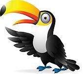 Toucan bird waving