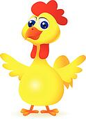 funny chicken cartoon