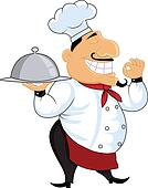 Friendly chef cartoon
