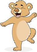 Dancing bear cartoon