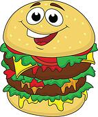 Fat burger cartoon character
