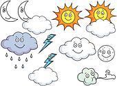 Cartoon Weather Symbols