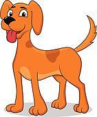 Happy dog cartoon