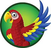 Macaw cartoon character