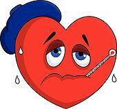 Sick heart character