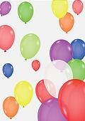 Colorful balloon background