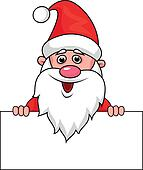 Santa clause with blank sign