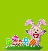 baby with rabbit costume