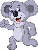 Cute koala cartoon running