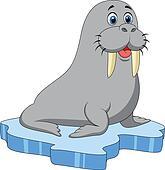 Clip Art Walrus Clipart walrus clip art royalty free gograph cute cartoon on ice