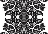 Classic seamless floral pattern art