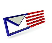 Email icon with trail