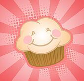 Cupcake Muffin Cartoon Character