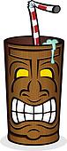 Tiki Drink Cup Cartoon Character