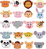 Cartoon animal head icon